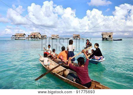 Bajau Laut people in Sabah Borneo