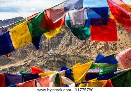 Aerial View Of Shanti Stupa