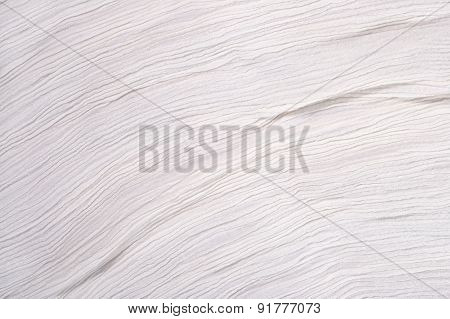 Crumpled White Fabric Background