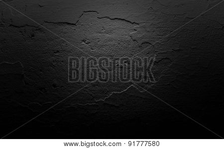 Dark Wall Texture Background Cracked