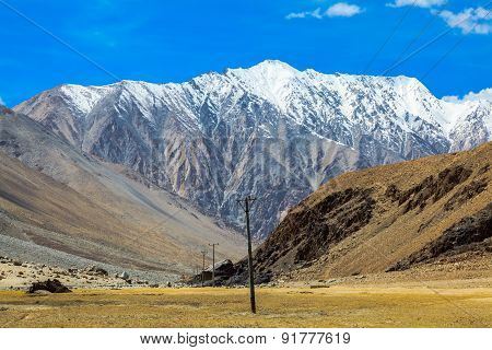 View At The Valley In Leh