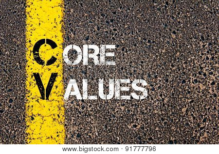Business Acronym Cv As Core Values