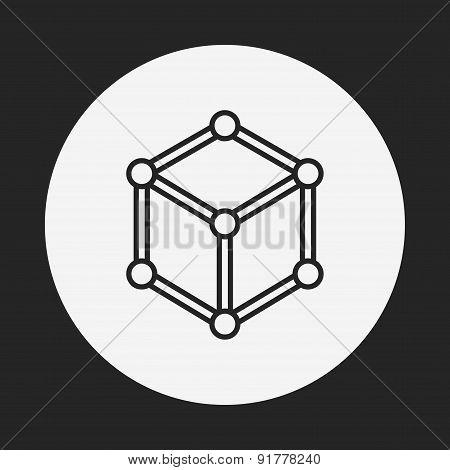 Molecular Modeling Line Icon