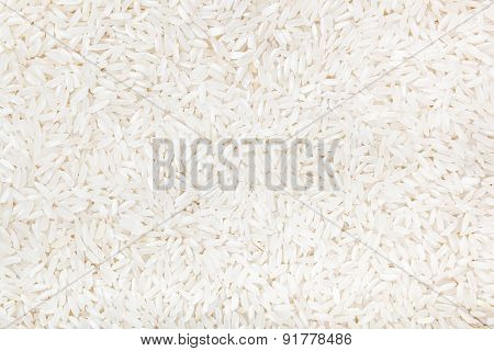 Background Made From White Rice.