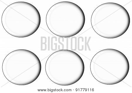 Set Of Round Buttons,