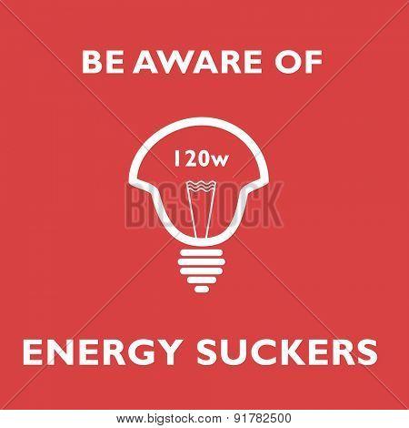 energy sucker save energy 120w bulb