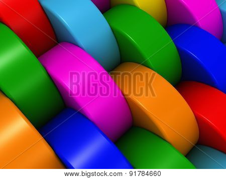 Multicolored Cylinders