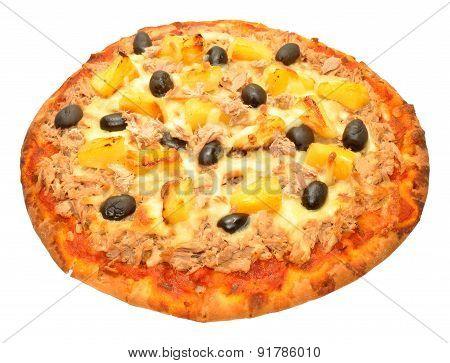 Tuna Fish And Pineapple Pizza