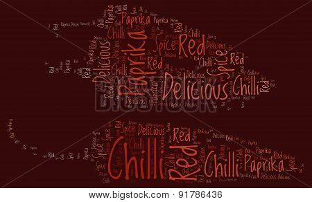 Chilli Paprikas - Red Word Cloud