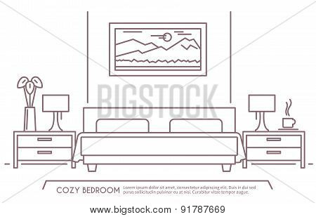 Bedroom Furniture Outline