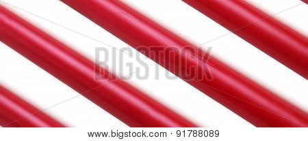 Red White Wax Candle Stick Diagonal Striped Background Texture