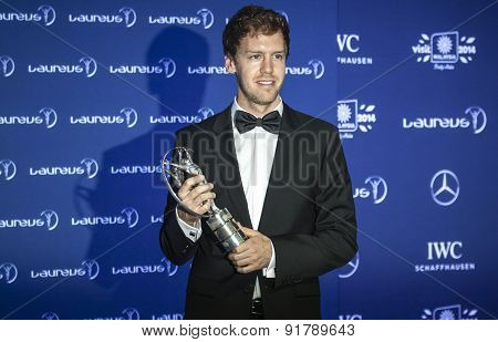 Sebastian Vettel at Laureus Awards
