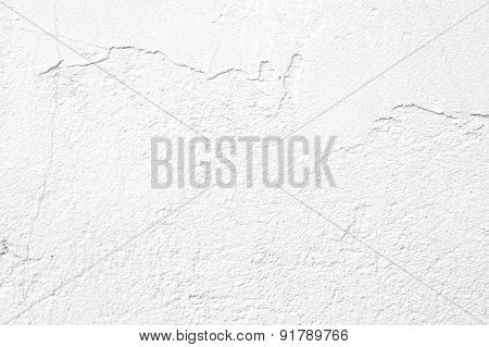 White Wall Texture Background Cracked