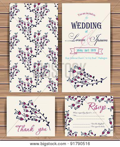 Floral vector card templates.