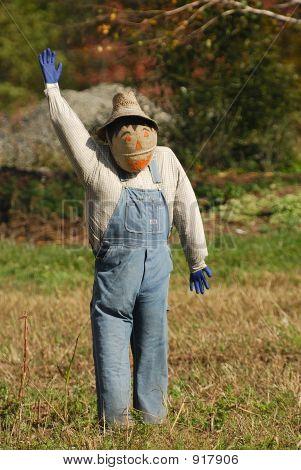 Pumpkin Face Scarecrow