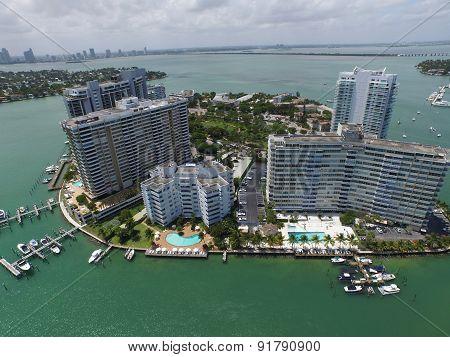 Aerial photo Belle Isle Miami Beach