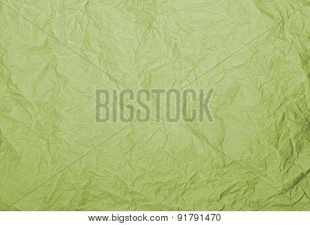 Green Rumpled Paper Texture