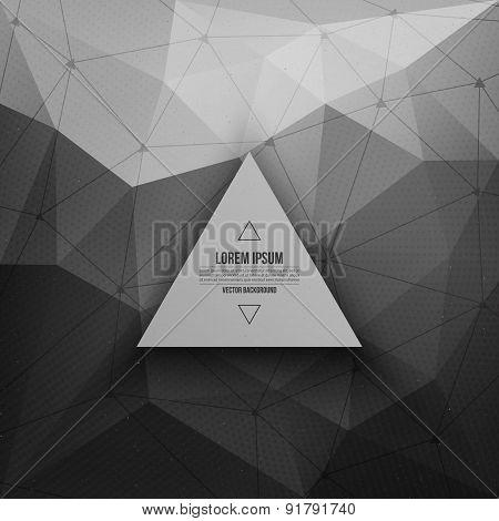 3d vector technology background
