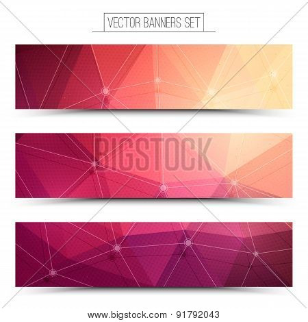 3d vector technology web banners