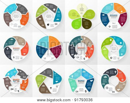 Vector circle arrows infographic. Template for cycle diagram, graph, presentation and round chart. B