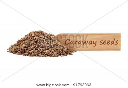 Caraway Seeds On Plate