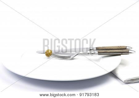 Olive On Plate