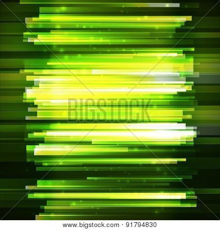 Green Lighting Horisontal Oriented Linear Banner