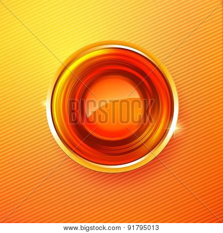 Hot Colors Abstract Circle Medal