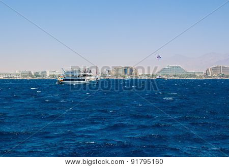 Yacht sailing in the Red Sea