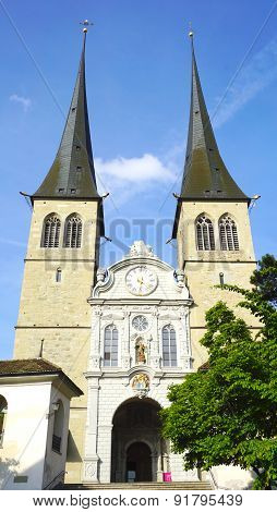 Famous Historical Church In Lucerne