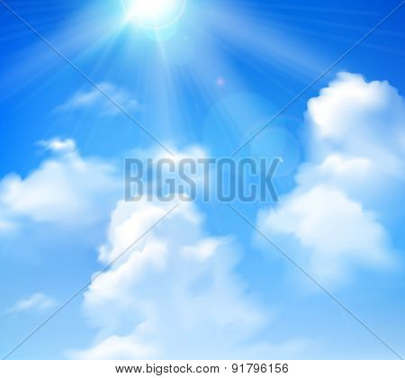 Sun Shining In Sky