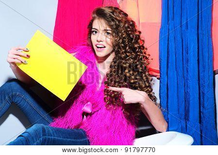 Fashionable Sexual Young Woman On Bathtub