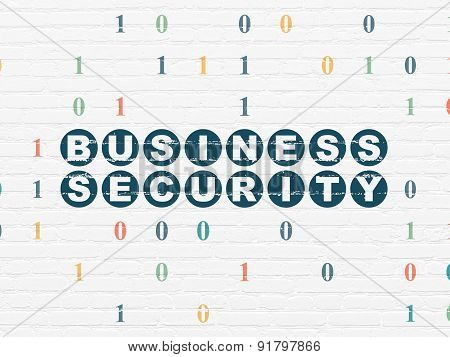 Security concept: Business Security on wall background
