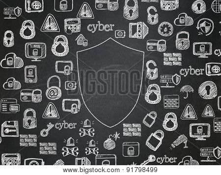 Security concept: Shield on School Board background