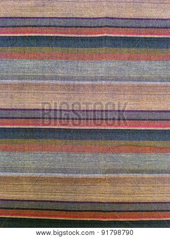 Striped Cotton Fabric Of Colorful Background And Abstract Texture