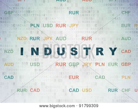 Finance concept: Industry on Digital Paper background