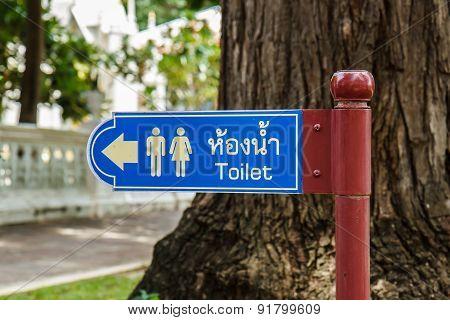 Blue Bathroom Signs
