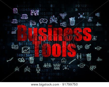 Finance concept: Business Tools on Digital background