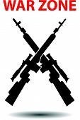 pic of sniper  - Sniper rifles poster background vector illustration isolated - JPG
