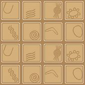 pic of aborigines  - Seamless background with symbols of Australian aboriginal art for your design - JPG