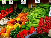 picture of farmers market vegetables  - the jean - JPG