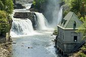 stock photo of hydro  - Panoramic view of the Rainbow Falls and the Hydro - JPG