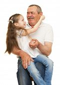 pic of grandfather  - Grandfather and grandchildren portrait studio shoot - JPG
