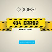 stock photo of not found  - Creative page not found - JPG