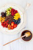 picture of quinoa  - Honey black quinoa with fruits - JPG