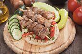 picture of pita  - Souvlaki or kebab - JPG