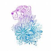 foto of cheetah  - Graphic colored vector cheetah - JPG