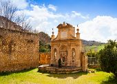 pic of nymphs  - View of Nymphs fountain in Leonforte Sicily - JPG