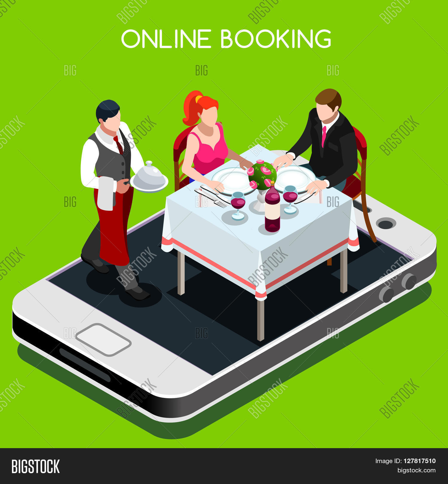 Online booking reservation concept vector photo bigstock for Table 52 reservations