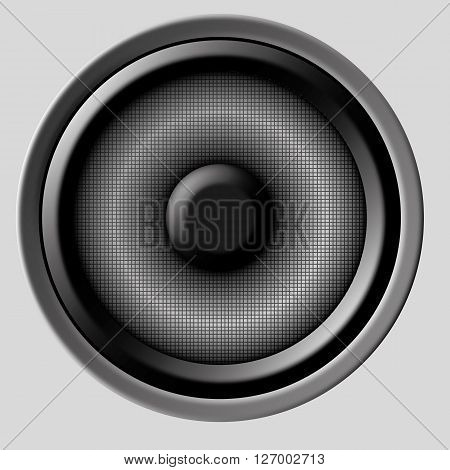 an illustration of a speaker on a neutral background